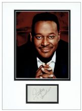 Luther Vandross Autograph Signed Display
